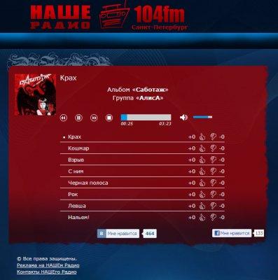 """29 сентября 2012 - Премьера альбома """"Саботаж"""" (""""Наше радио"""")"""