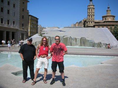 6 июля 2008 - Игорь Романов, Дмитрий Парфёнов (Ослик), Евгений Лёвин и Андрей Вдовиченко в Сарагосе (Испания)