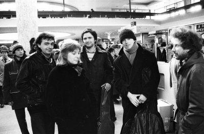 29 марта 1988 - К.Кинчев, П.Самойлов, А.Шаталин, Н.Барановская вылетают из Ленинграда в Пермь