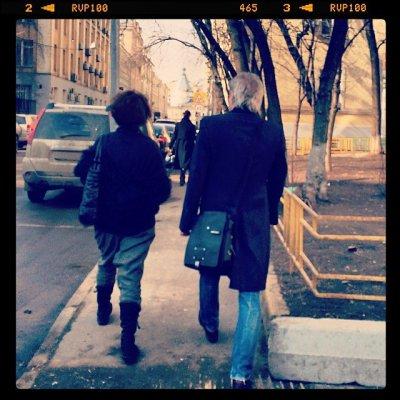 24 марта 2014 - К.Кинчева и А.Панфилову видели на Селиверстовом переулке (Москва)