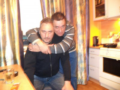 18 декабря 2012 - Евгений Лёвин на Дне рождения у Виталия Слабинского (группа Стёкла)