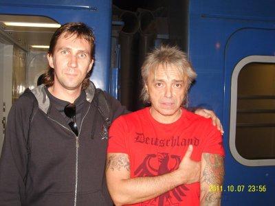 7 октября 2011 - К.Кинчев в поезде Одесса - Киев