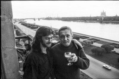 октябрь 1992 - Светлана Лосева, Сергей Степанов и Валерий Потапов (Санкт-Петербург)