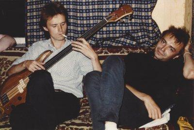 весна 1986 - К.Кинчев и П.Самойлов записываются на домашней студии Алексея Вишни (бутлег «Атеист-твист»)