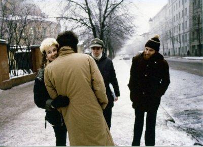 весна 1986 - Встреча К.Кинчева и С.Задерия с Джоанной Стингрей