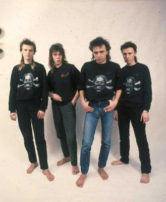 19 января 1989 - Съёмки в студии В.Барановского (Ленинград), фотограф В.Потапов