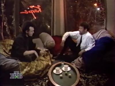"""конец октября 1994 - Кинчев в программе """"Кафе Обломов"""""""