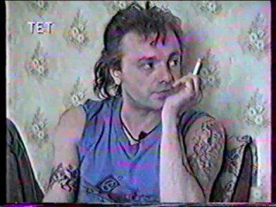 """22 апреля 1995 - К.Кинчев даёт интервью для телеканала """"ТЕТ"""" (Киев), программа """"Решето"""""""